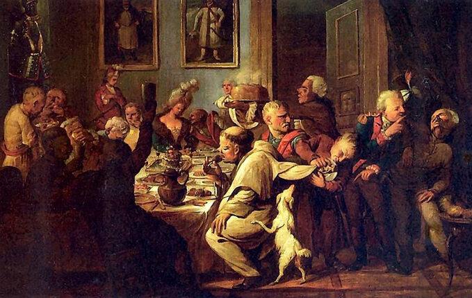 XVIII-wieczna uczta nadworze Radziwiłłów