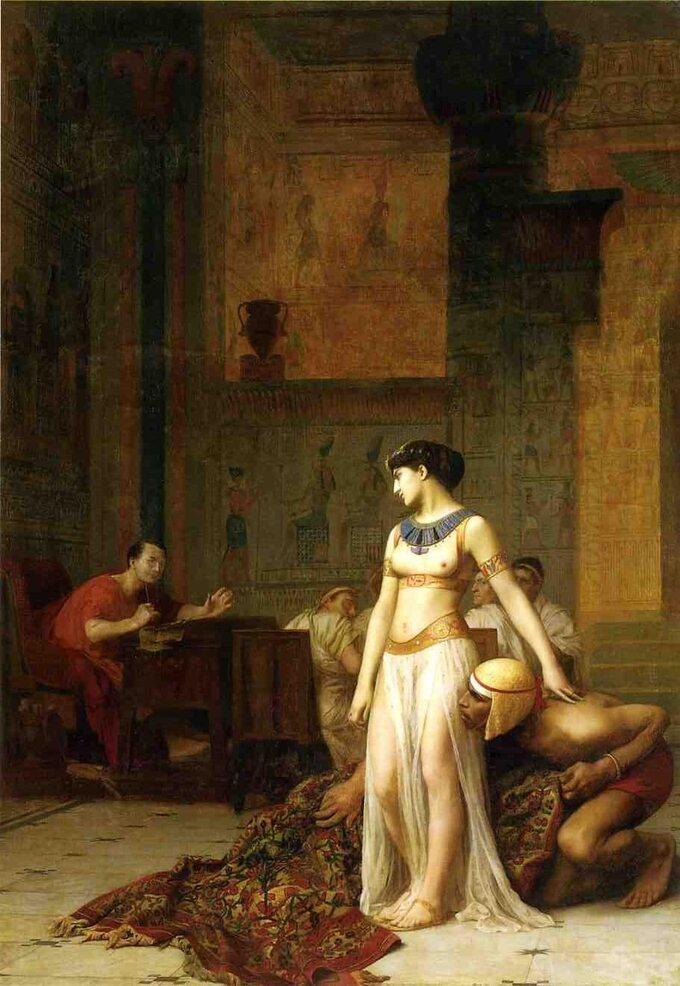 Jean-Léon Gérôme, Kleopatra iCezar