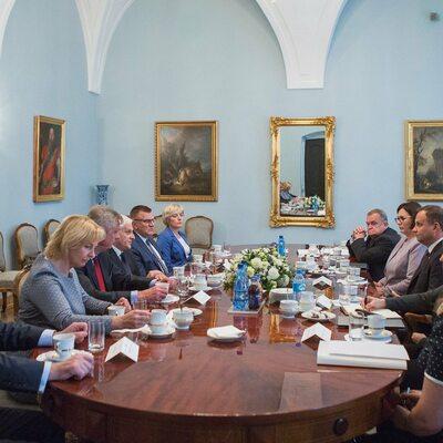 Prezydent spotkał się z prezydium Krajowej Rady Sądownictwa