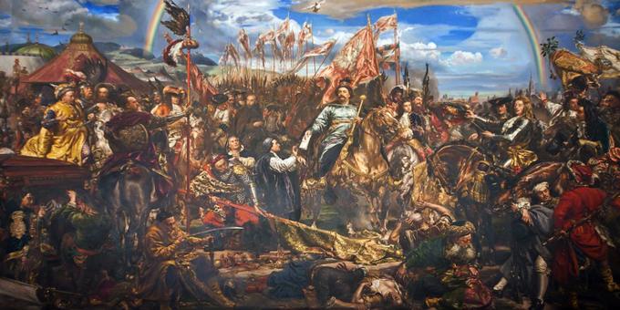 J. Matejko, Jan IIISobieski wysyła wiadomość ozwycięstwie papieżowi Innocentemu XI