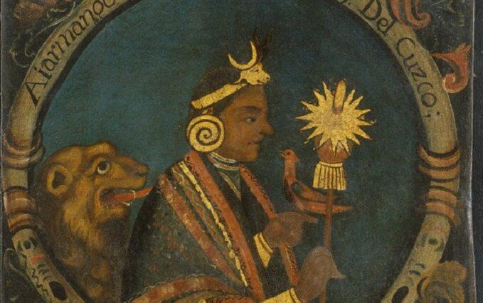 Manco Cápac, legendarny założyciel królewskiej dynastii Inków. Obraz zXVIII wieku