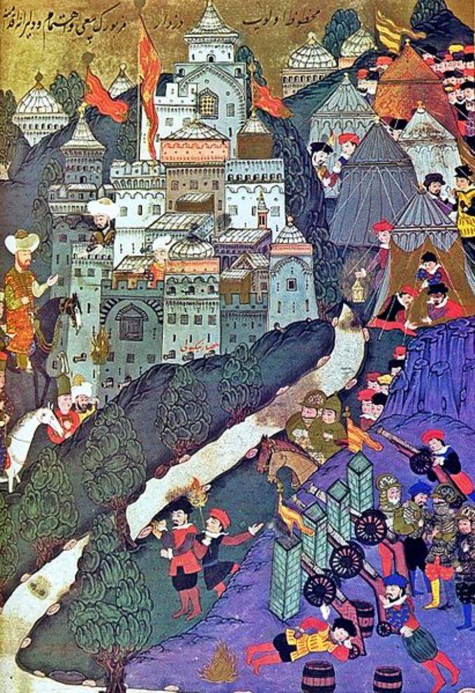 Bitwa podNikopolis, miniatura turecka