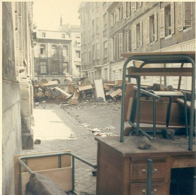 Barykady wtrakcie rewolty 1968 roku, Bordeaux