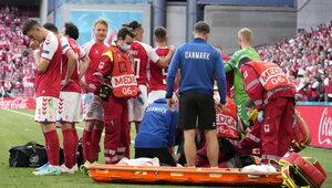 Dramat podczas Euro 2020. Piłkarz reanimowany na boisku