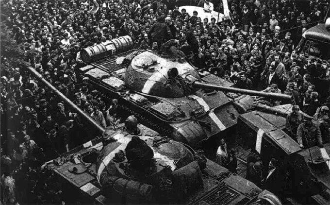 """Interwencja wCzechosłowacji, operacja """"Dunaj"""""""