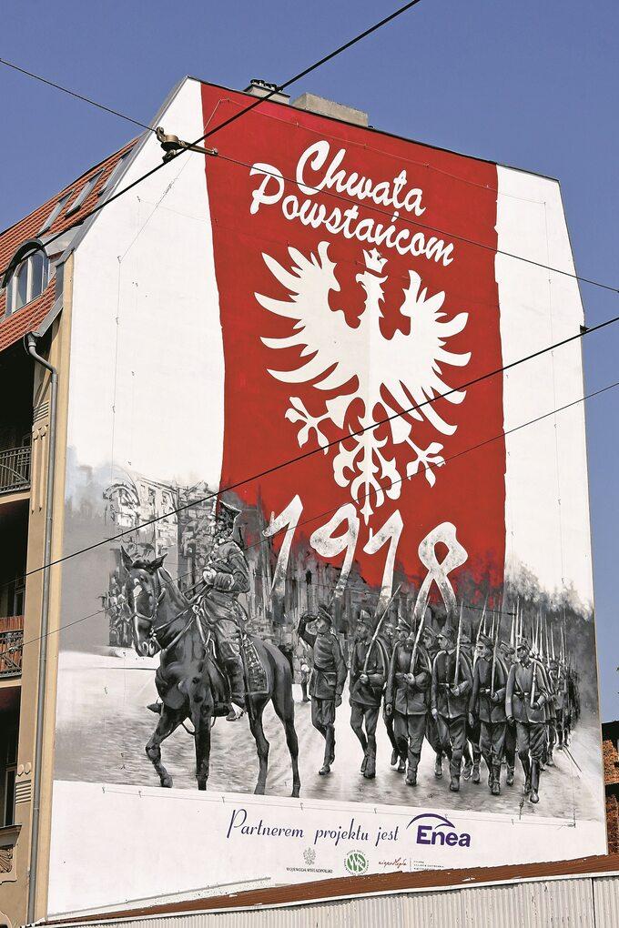 Mural wPoznaniu oddaje hołd powstańcom wielkopolskim
