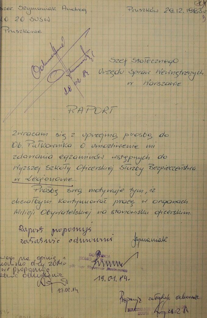 Andrzej Szymaniak -dokumenty