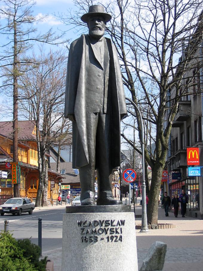 Władysław Zamoyski, pomnik wZakopanem