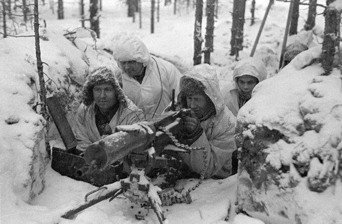 Fińscy żołnierze podczas wojny zimowej zZSRS