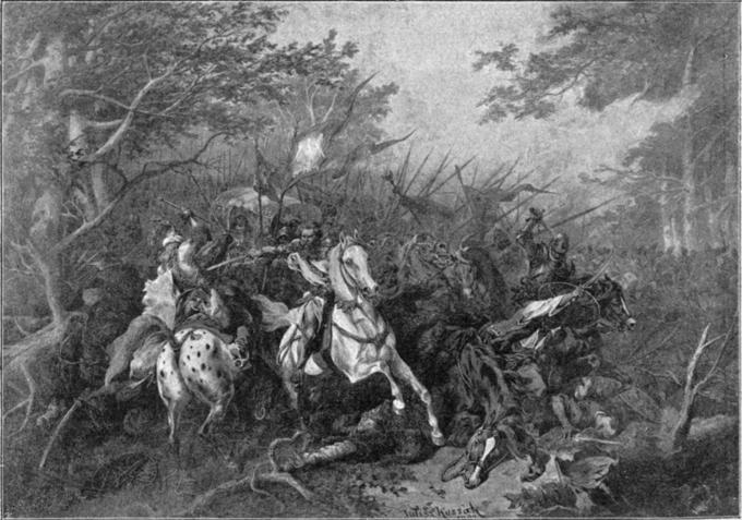 Juliusz Kossak, Jan Fredro ratuje króla Jana Olbrachta naBukowinie (bitwa podKoźminem)