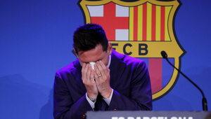 """""""Nie byłem na to gotowy"""". Messi zalewa się łzami i żegna się z Barceloną"""