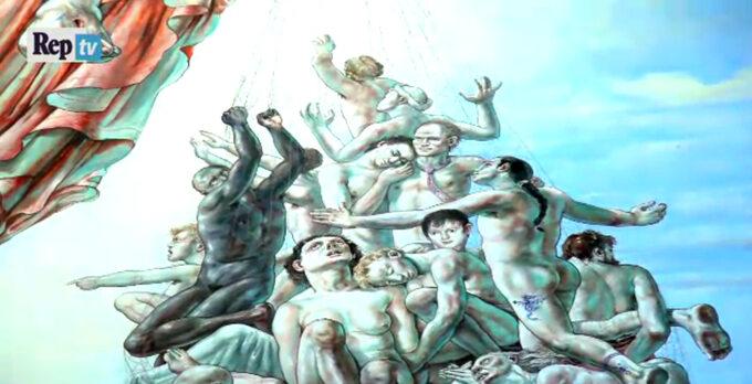 Mural znajduje się naścianie katedry diecezjalnej Terni-Narni-Amelia weWłoszech.