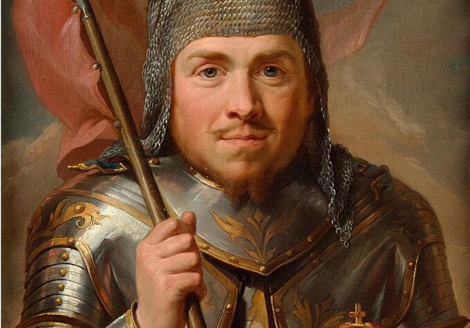 """""""Portret króla Władysława Łokietka"""", obraz autorstwa Marcello Baciarellego, namalowany między 1768 a1771 rokiem"""