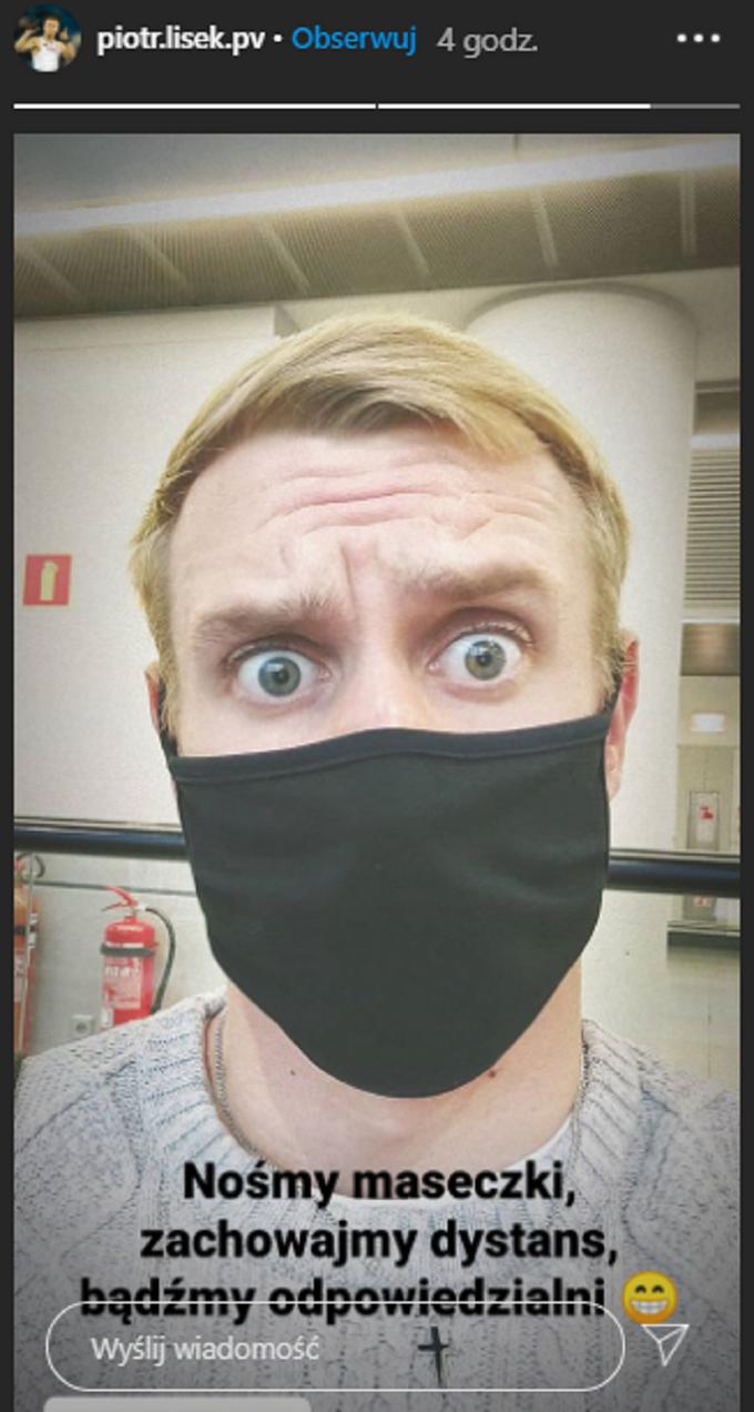Piotr Lisek apeluje ozachowanie podstawowych zasad wdobie koronawirusa