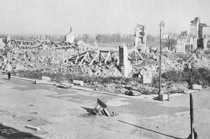 Zamek Królewski wWarszawie, 1945r.