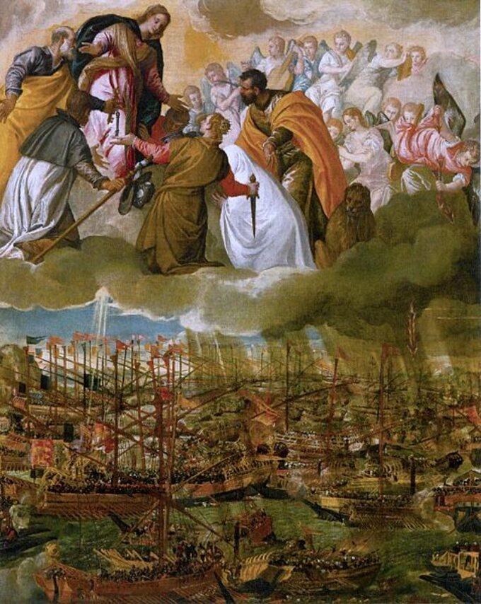 Paolo Veronese , Alegoria bitwy podLepanto
