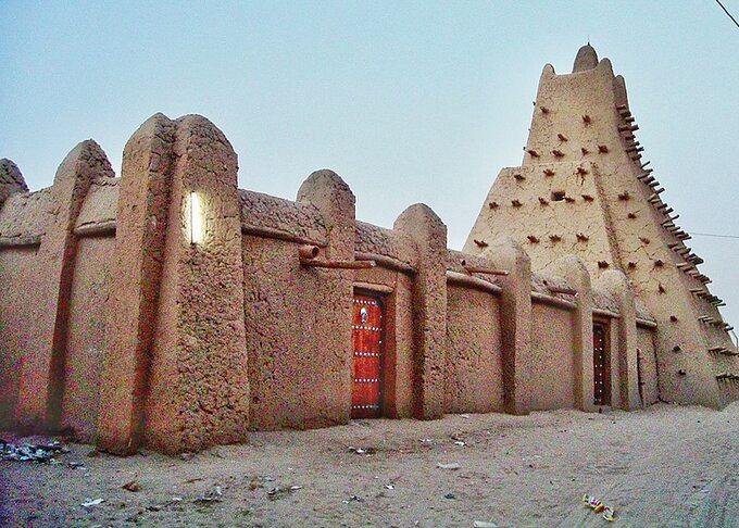 Timbuktu. Pozostałości podawnym Królestwie Mali