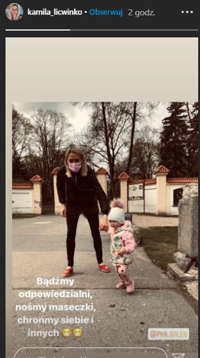 Kamila Lićwinko apeluje onoszenie maseczek