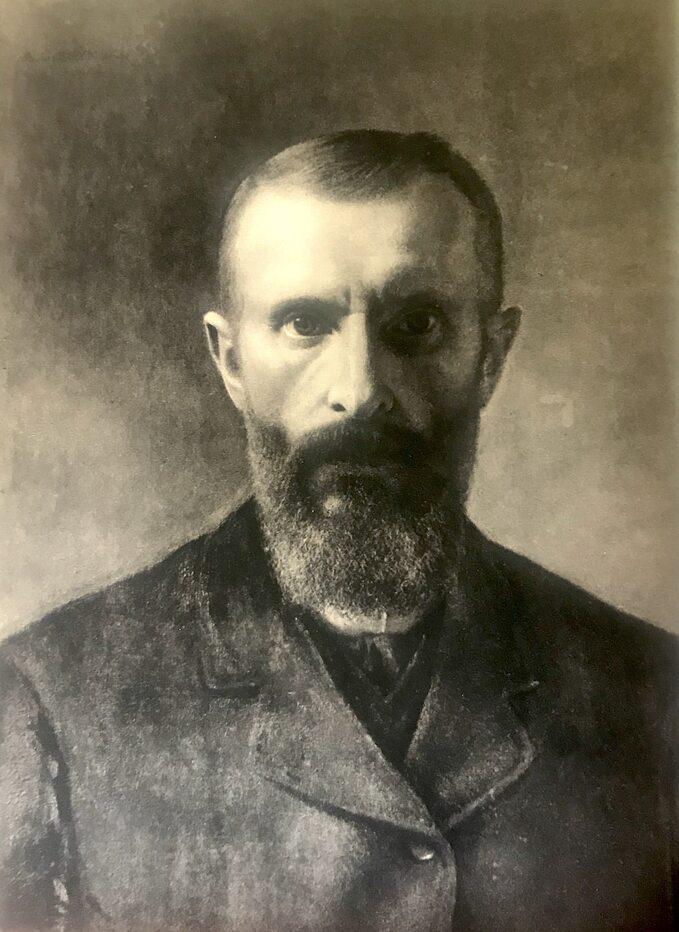 A. Gierymski, Autoportret, około 1900 rok
