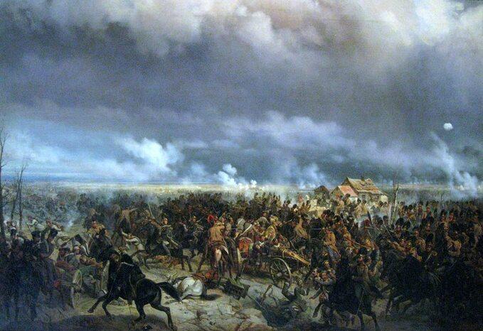 Bitwa podGrochowem. Obraz Bogdana Willewalde'a (ok. 1850r.)