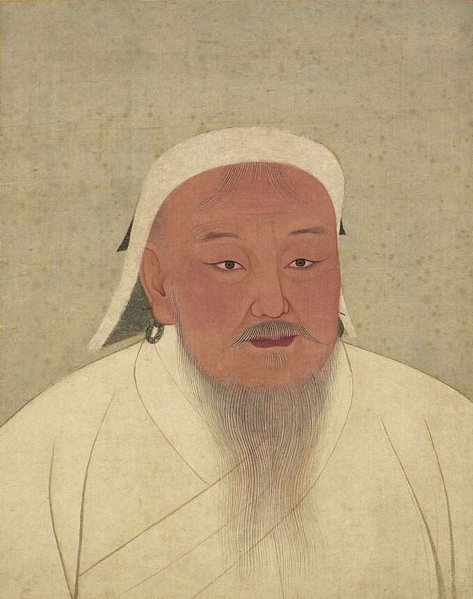 Czyngis-chan. Domniemany wizerunek, XIV wiek