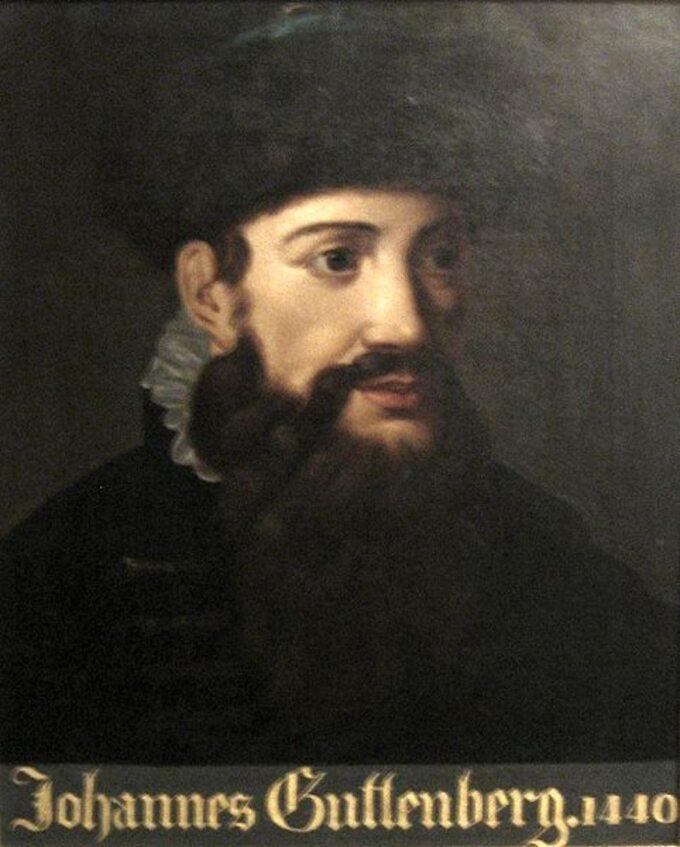 Portret J. Gutenberga (anonim, datowany na1440)