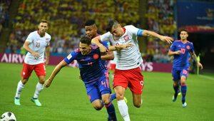 Mecz o wszystko. Po pierwszej połowie Polska przegrywa z Kolumbią