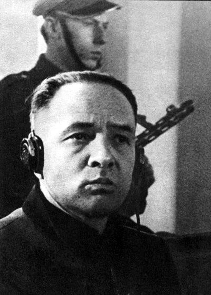Rudolf Höß wtrakcie procesu.