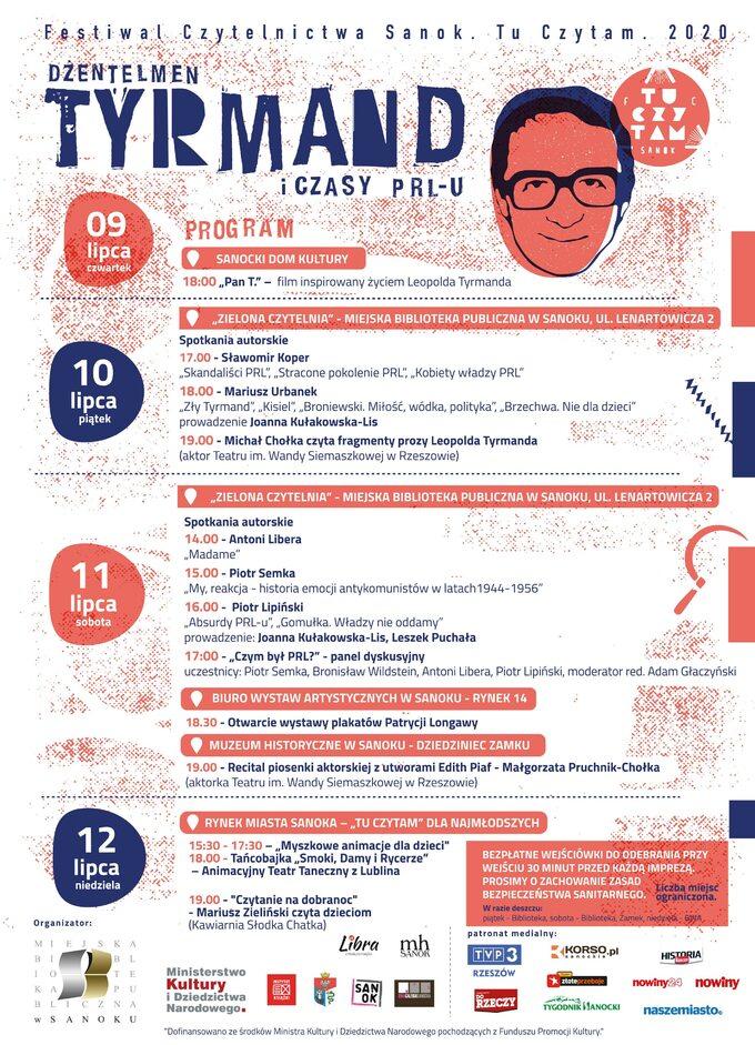 Program Festiwalu Czytelnictwa Sanok. Tu Czytam. 2020 – Dżentelmen Tyrmand iczasy PRL-u