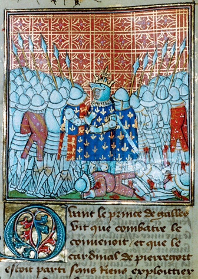 Jean Froissart, Pojmanie Jana IIDobrego. Bitwa podPoitiers (1356)