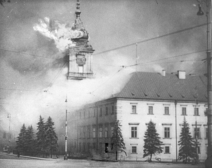 Zamek Królewski wWarszawie, 17 września 1939r.