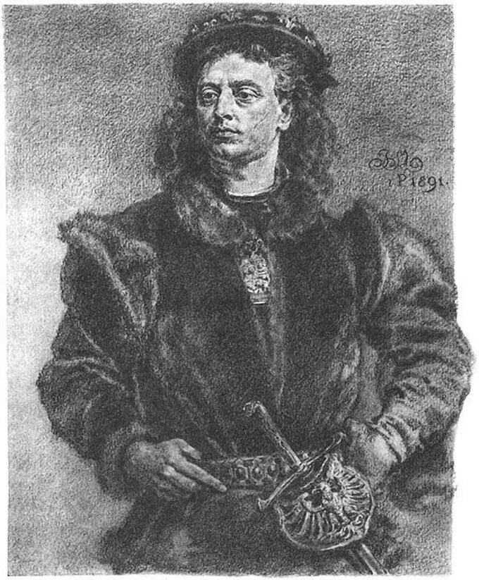 """J. Matejko, """"Jan Olbracht"""""""