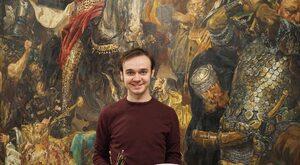 """Młody artysta skopiował """"Bitwę pod Grunwaldem"""". Jest  większa od oryginału"""