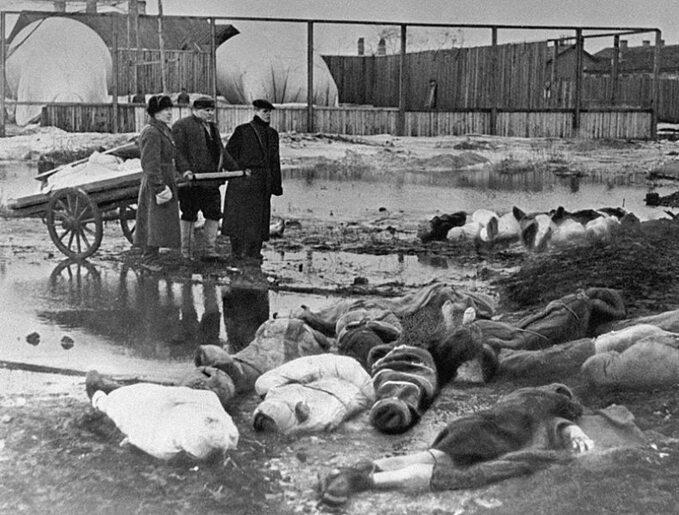 Pochówek zmarłych wczasie oblężenia Leningradu