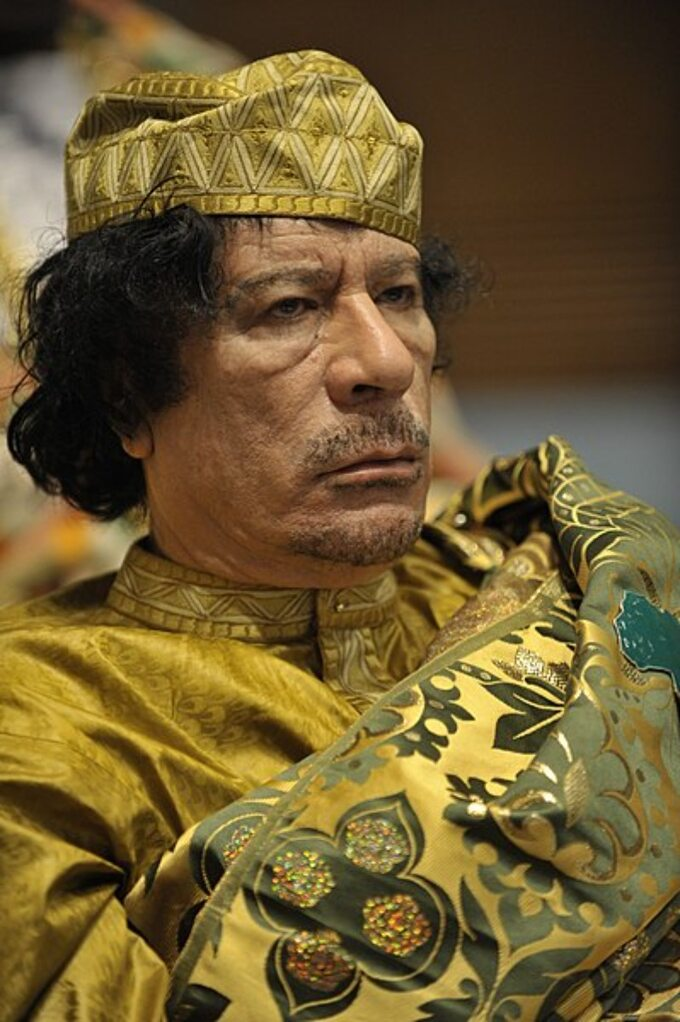 Muammar Kaddafi, Libia