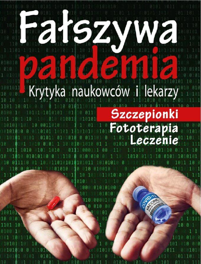 """Okładka książki """"Fałszywa pandemia"""" t. IV"""