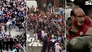 Pogrzeb Diego Maradony. Doszło do starć kibiców z policją