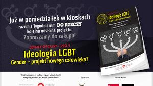 """""""Gender – projekt nowego człowieka?"""". Dodatek specjalny dostępny z..."""