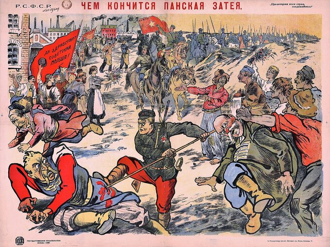 Bolszewicki plakat propagandowy, 1920 rok