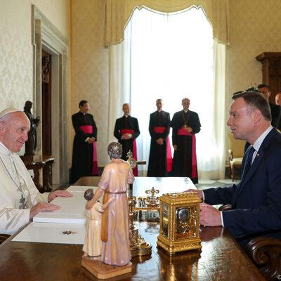 Para prezydencka u papieża Franciszka. Rozmawiali o korzeniach UE