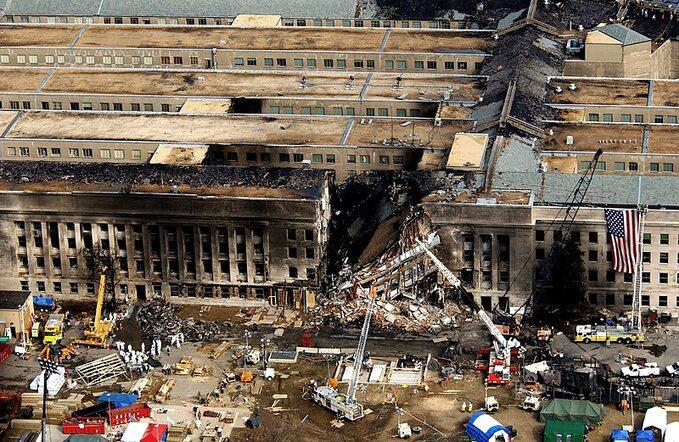 Pentagon popożarze wywołanym przez atak 11 września 2001 roku