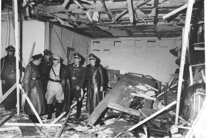 Pomieszczenie, gdzie wybuchła bomba, Wilczy Szaniec