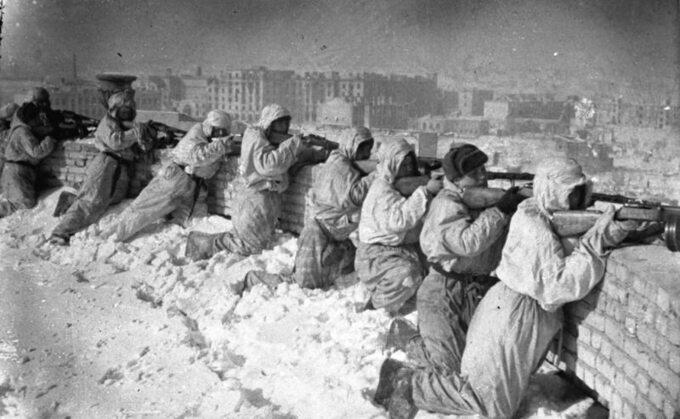 Sowieckie pozycje obronne wStalingradzie