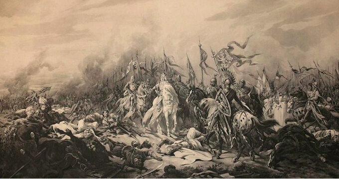 Juliusz Kossak, Bitwa podPłowcami 1331