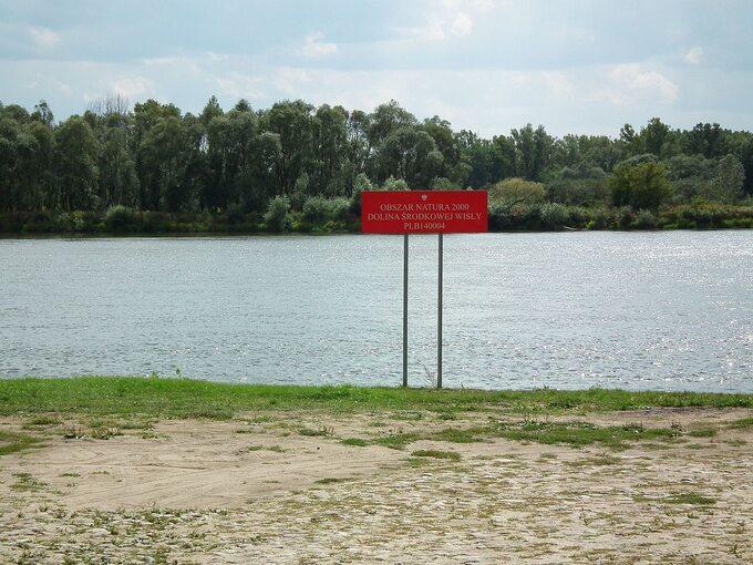 Domniemane miejsce przeprawy pomoście łyżwowym wokolicach Czerwińska