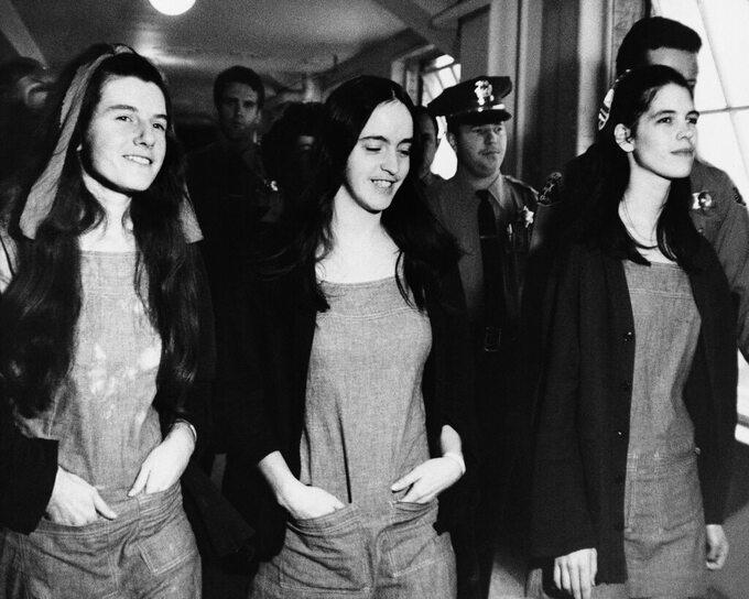 Van Houten, Krenwinkel , Atkins – zabójczynie Sharon Tate ijej przyjaciół