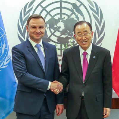Prezydent spotkał się z sekretarzem generalnym ONZ