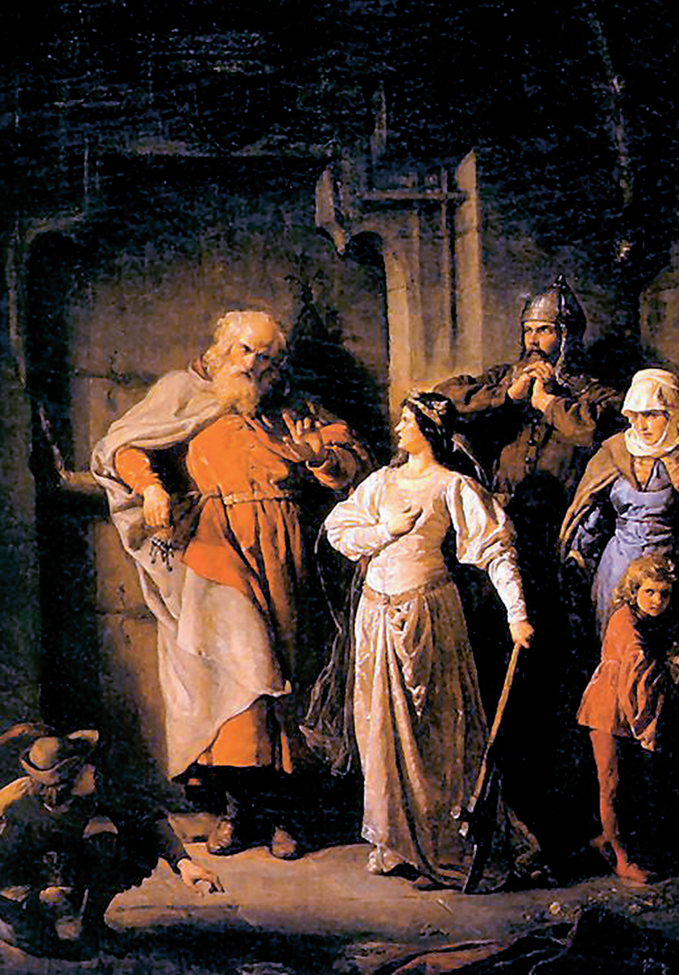 """Wojciech Gerson """"Królowa Jadwiga iDymitr zGoraja"""", 1869r., olej/płótno; 95 x 68 cm"""