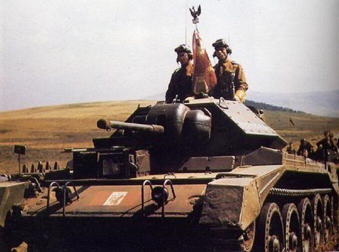 Czołg 1. Dywizji Pancernej gen. Stanisława Maczka. Wielka Brytania, 1943r.