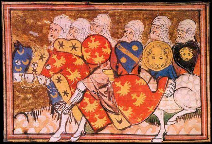 Armia Saladyna naXIV-wiecznym francuskim manuskrypcie